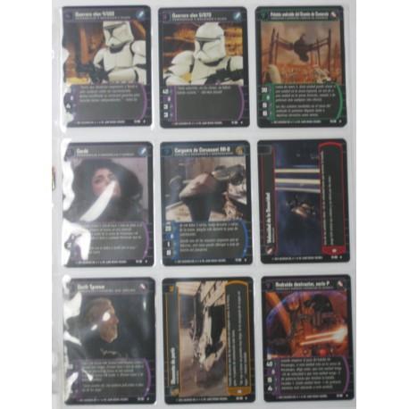 LOTE DE 157 STAR WARS-EL ATAQUE DE LOS CLONES- TRADING CARD GAME