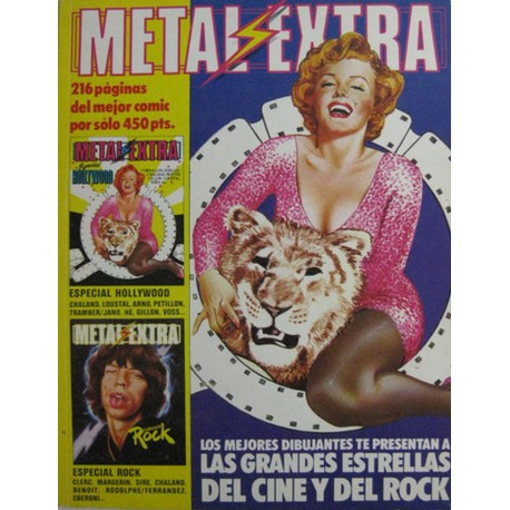 METAL HURLANT EXTRA HOLLYWOOD Y ROCK. RETAPADO