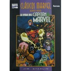 CLÁSICOS MARVEL B/N Núm 3: LA VIDA DEL CAPITÁN MARVEL
