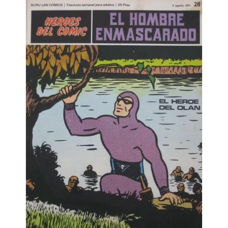 EL HOMBRE ENMASCARADO Núm 28: EL HÉROE DEL OLAN
