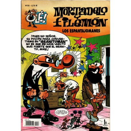 "MORTADELO Y FILEMON Núm 33 ""LOS ESPANTAJOMANES"""