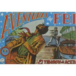 """AVENTURAS DEL FBI. Núm. 37 """" EL TIBURÓN DE ACERO""""."""