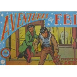 """AVENTURAS DEL FBI. Núm. 43 """" EL ESPECTRO LA LEY""""."""
