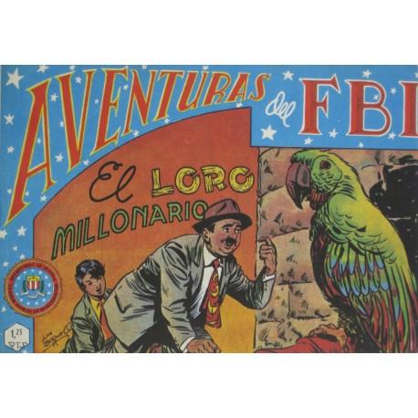 """AVENTURAS DEL FBI. Núm. 61 """" EL LORO MILLONARIO""""."""