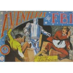 """AVENTURAS DEL FBI. Núm. 94 """"EL CEREBRO ELECTRÓNICO""""."""