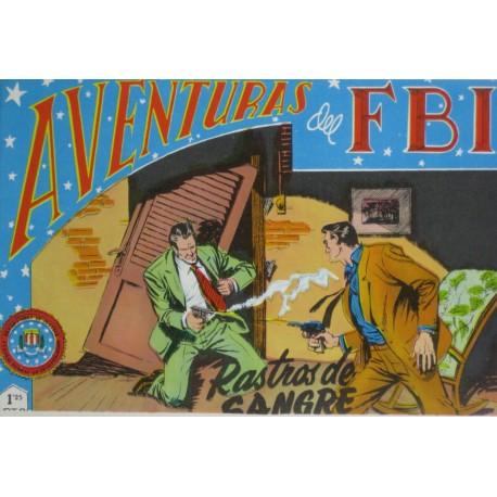 """AVENTURAS DEL FBI. Núm. 115 """"RASTROS DE SANGRE""""."""