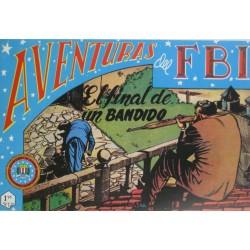 """AVENTURAS DEL FBI. Núm. 122 """" EL FINAL DE UN BANDIDO""""."""