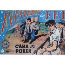 """AVENTURAS DEL FBI. Núm. 126 """"CARA DE POKER""""."""