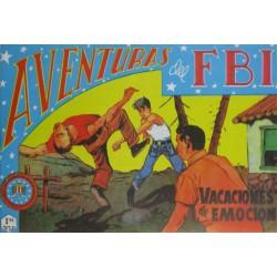 """AVENTURAS DEL FBI. Núm. 141 """" VACACIONES DE EMOCIÓN """"."""
