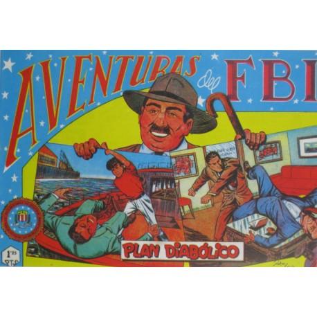 """AVENTURAS DEL FBI. Núm. 143 """" PLAN DIABÓLICO """"."""