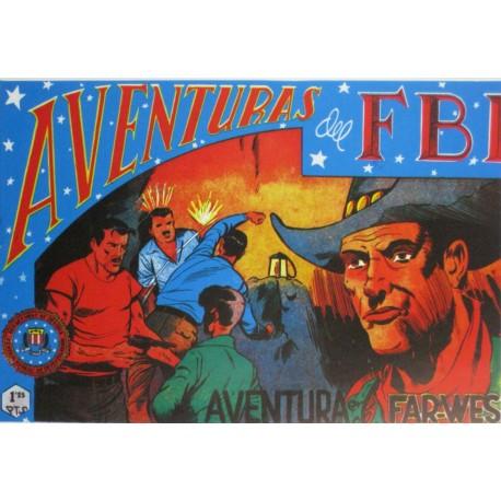 """AVENTURAS DEL FBI. Núm . 145 """" AVENTURA EN EL FAR-WES """"."""