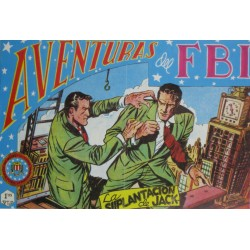 """AVENTURAS DEL FBI. Núm. 157 """" LA SUPLANTACION DE JACK""""."""