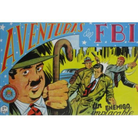 """AVENTURAS DEL FBI. Núm. 158 """" UN ENEMIGO IMPLACABLE""""."""