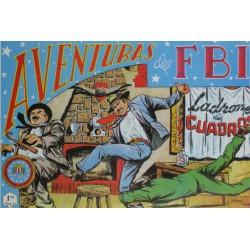"""AVENTURAS DEL FBI. Núm. 159 """" LADRONES DE CUADROS""""."""
