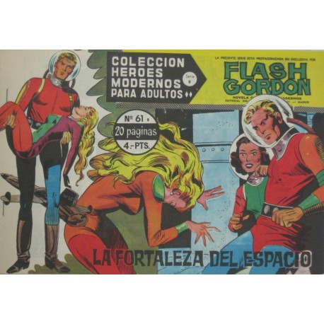 "FLASH GORDON. Núm 61 ""La fortaleza del espacio"""