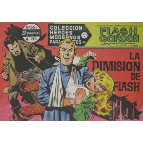 "FLASH GORDON. Núm 65 ""La dimisión de Flash"""